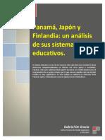 Panamá, Japón y Finlandia Un Análisis de Sus Sistemas Educativos