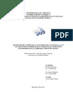 Transición de Las Prácticas Contables de Las Ven Pcga a Las Ven-nif Pyme en Empresas Que Comercializan Respuestos Automotrices en La Parroquía Cristo de Aranza
