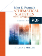John e Freunds Mathematical Statistics With Applications Irwin Miller Marylees Miller Eighth Edition