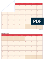 Calendario 2019 Mensual Cherry