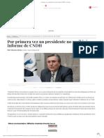 Por primera vez un presidente no recibirá informe de CNDH - La Jornada