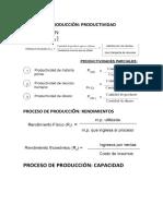Formulas productividad