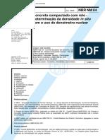 NBR 4 - 2000 - Concreto Compactado Com Rolo - Determinacao Da Densidade in Situ Com o Uso De