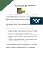 Requisitos Para El Funcionamiento de Un Emprendimiento Social en El Ecuador