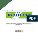 Manual Preauditoria Módulo de Cuentas Médicas