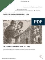 19. London Prostitution 1885 - 1889