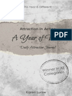 The Law of Attraction in Action a Year of Wow Daily Attraction Journal Nodrm