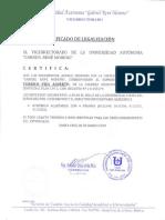 Certificado de Legalizacion