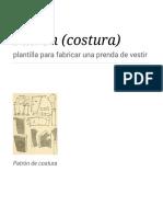 Patrón (Costura) - Wikipedia, La Enciclopedia Libre