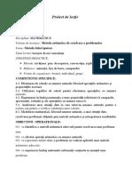 Proiect Didactic Metoda Falsei Ipoteze