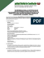 Tdr Exp. Tec. Inicial Cartagena 2015