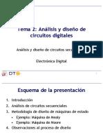 Análisis y  diseño de circuitos digitales