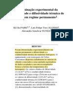 Exemplo 1 - Determinação Experimental Da Condutividade Térmica Em Grãos