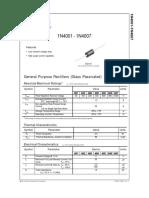 Datasheet Diode Silicon 1N4001-1N4007