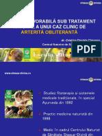 21.Evolutia Favorabila Sub Tratament Natural a Unui Caz Clinic de Arterita Obliteranta Dr. Cristina Cimpean