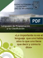 Capitulo 2 Lenguajes de Programacion y Su Clasificacion