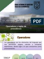 Capitulo 4 Operadores y Reglas de Precedencia