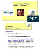 Tutorial curso Cómo crear una miniquest o webquest