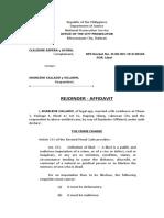Rejoinder-Affidavit (Sharlene Callado)