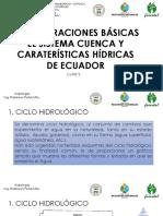 Sistema Cuenca y Carteristicas Hidricas de Ecuador
