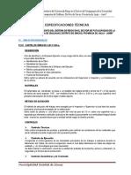 01.- Especificaciones Tecnicas Chalhuas