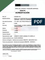 Acreditación REMYPE001
