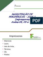 Manutencao de Perifericos - Aula 08- 09 e 10 - Impressoras