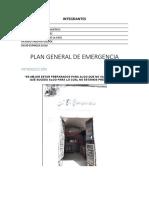 Plan General de Emergencia Resto-bar