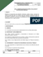 14. Procedimiento Para La Identificacion de Peligros y Riesgo