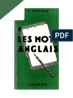 Langues Anglais Hachette Les Mots Anglais F Novion