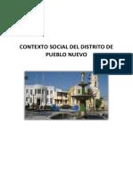 Contexto Social Del Distrito de Pueblo Nuevo