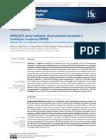APACHE II COMO INDICADOR DE PAVM Revista de Epidemiologia e Controle de Infecção