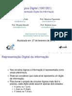 Lógica Digital epresentação Digital Da Informação