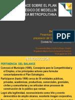 Balance Sobre El Plan Estratégico de Medellín y El Área Metropolitana