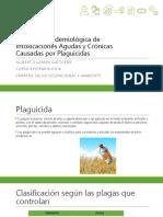 Vigilancia Epidemiológica de Intoxicaciones Agudas y Crónicas Por Plaguicidas