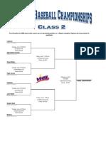 2019 Class 2 Baseball Bracket