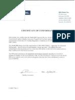 1. Certificado equipo Sentinel Delta 880 SN D9260.pdf