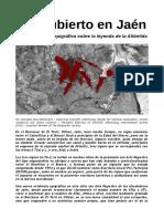 Jaén Aporta Una Nueva Evidencia Epigráfica Sobre La Leyenda de La Atlántida.