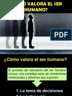 ¿Cómo Valora El Ser Humano