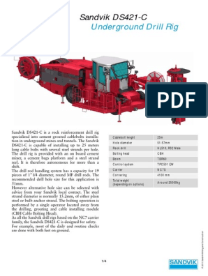 Manual Sandvik Ds 421-c | Drilling Rig | Brake