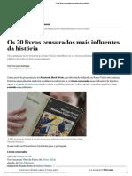 Os 20 Livros Censurados Mais Influentes Da História