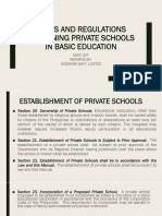 Rules and Regulations Governing Private Schools in Basic