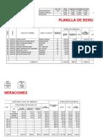 Planilla de Remuneraciones y Asiento Contable en Excel