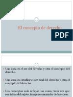D2 El Concepto de Derecho