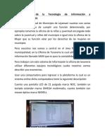 Infraestructura de La Tecnología de Información y Telecomunicaciones