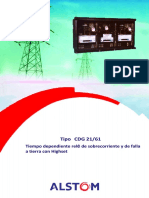 Type CDG 21 61 IDMT Overcurrent and Eart.en.Es TRADUCIDO
