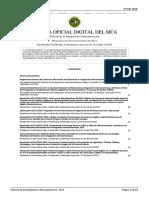Gaceta Oficial Digital del SICA N.° 035-2018
