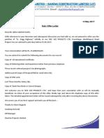 Dee Vee Offer Letter