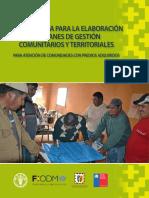 MOTODOLOGÍA Para La Elaboracion de Planes de Gestion Comunitarios y Territoriales
