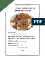 Proyecto de Investigacion Del Jabon de Canela